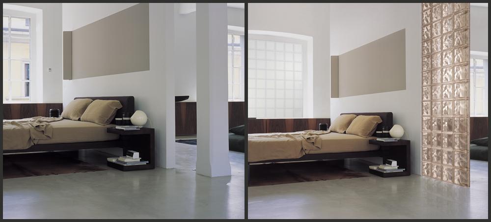 Fotoinserimento di prodotti e materiali effige comunicazione milano - Pavimento camera da letto ...